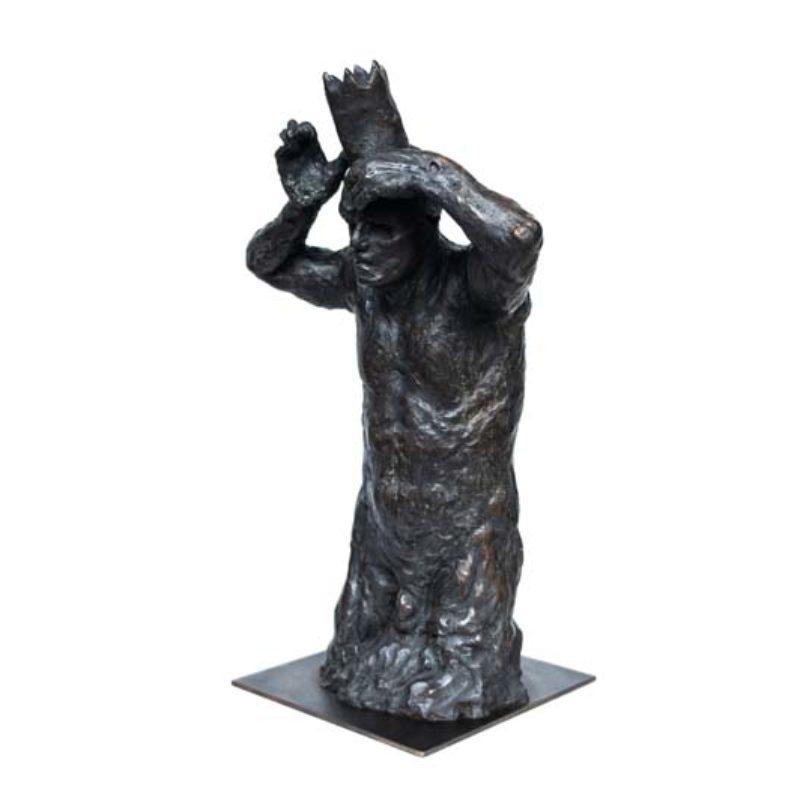 Beth Carter King Minos ¾ Study, Bronze Ed. of 10 h50 x 32 x 24 cm.