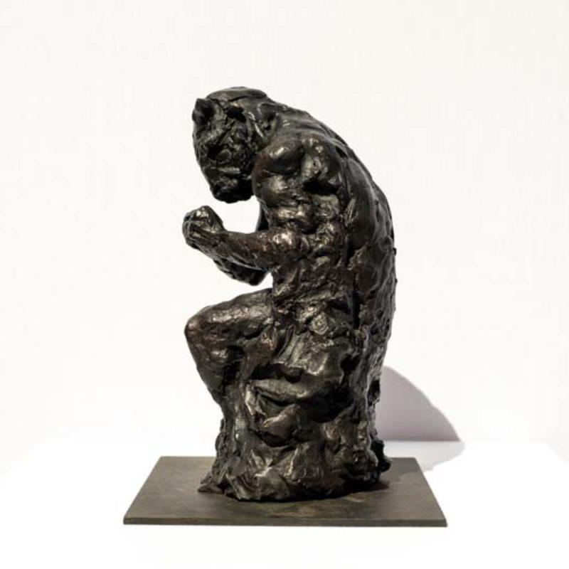Beth Carter Minotaur and Moth ¾ Study, Bronze Ed. of 10 h30 x 23 x 21 cm.