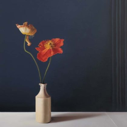 Jo Barrett B2 Still Life with Icelandic Poppies 73 x 65cm