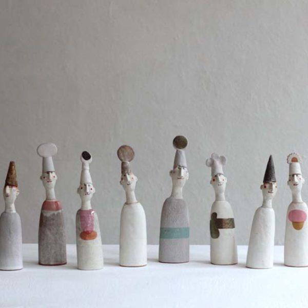 Jane Muir Hatmen, Stoneware heights 22-28 cm.