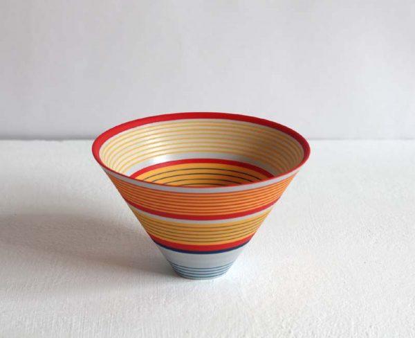 Sara Moorhouse 57. Small Porcelain Bowl, Porcelain with hand-painted underglaze 9 x 14 cm.