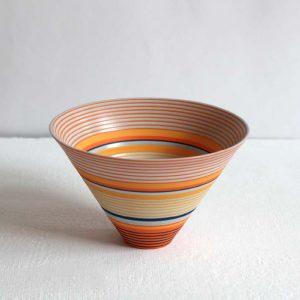 Sara Moorhouse 58. Small Porcelain Bowl, Porcelain with hand-painted underglaze 9 x 14 cm.