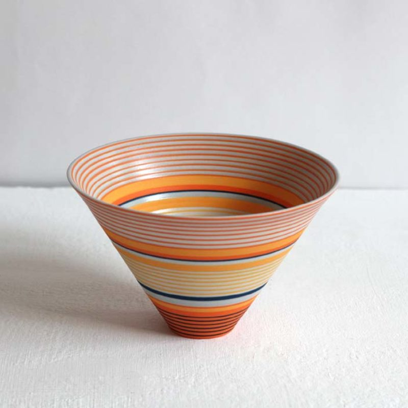 Sara Moorhouse 58. Small Porcelain Bowl, Porcelain with hand-painted underglaze 9 x 14 cm.