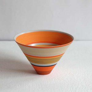 Sara Moorhouse 59. Small Porcelain Bowl, Porcelain with hand-painted underglaze 9 x 14 cm.