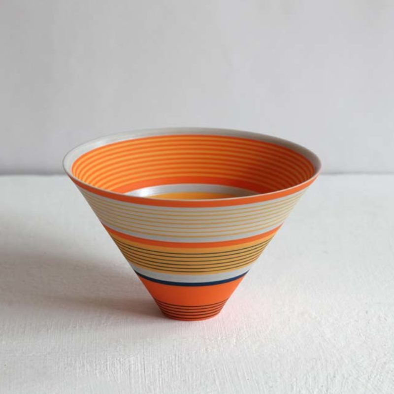 Sara Moorhouse 59. Small Porcelain Bowl, Porcelain with hand-painted underglaze 9 x 14 cm.