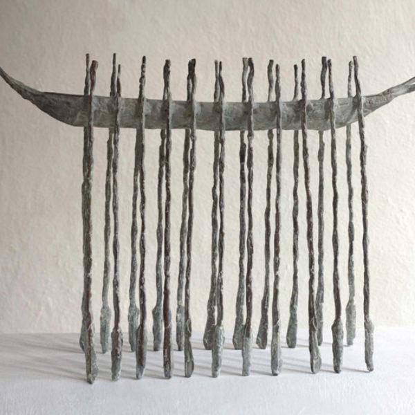 John Behan Long Oar Boat II, Bronze Ed. of 9 h46 x 68 x 20 cm.