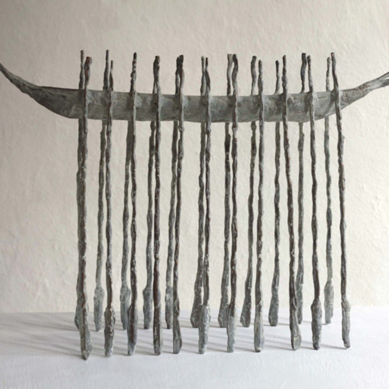 John Behan Long Oar Boat II, Bronze Ed. of 9 h46 x 68 x 20 cm.