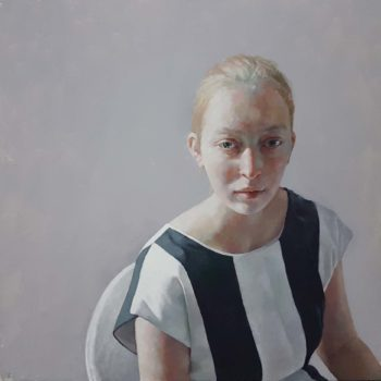 Jennifer Anderson Phosphor, Oil on board 60 x 63 cm.
