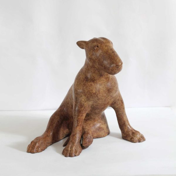 Anthony Scott Seated Bull Terrier, Bronze ed. of 6 h37 x 40 x 34 cm.