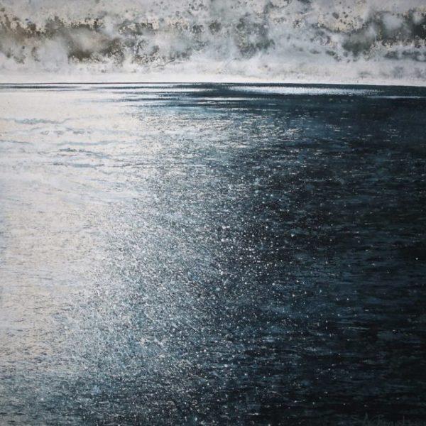 Stewart Edmondson A New Song Acrylic on paper 75 x 75 cm.