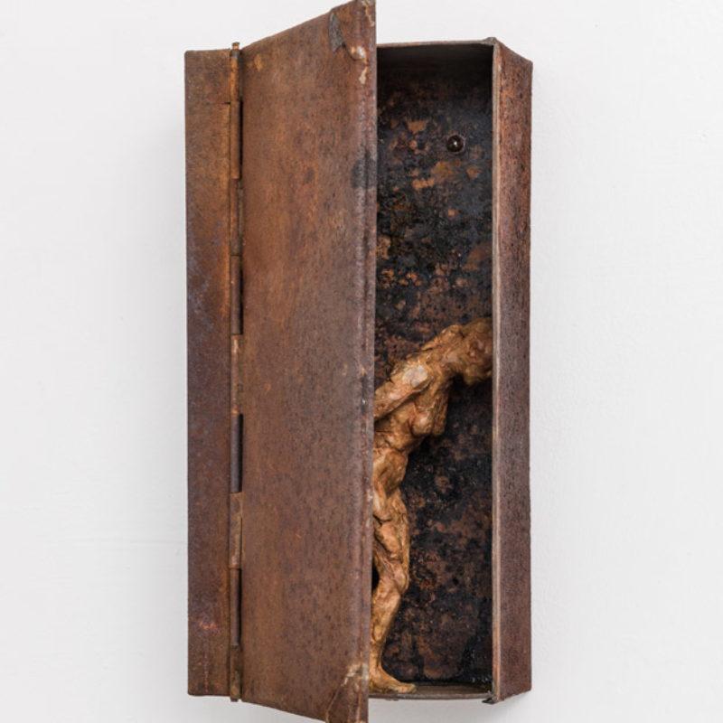 Anna Gillespie, Onwards, Unique, Bronze and found steel 32 x 16 x 8 cm