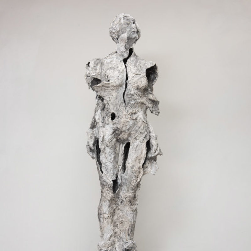 Anna Gillespie, Pandora, Plaster, mixed media, 192 x 64 x 39 cm