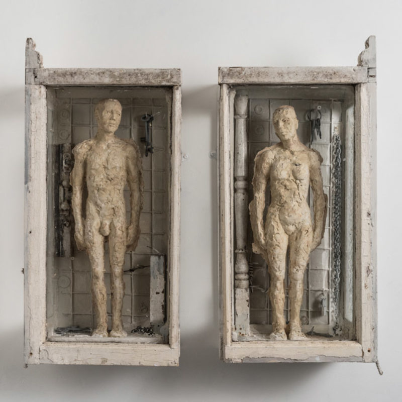 Anna Gillespie, Archaeology of Love Part I, Plaster, mixed media 74 x 80 x 22cm