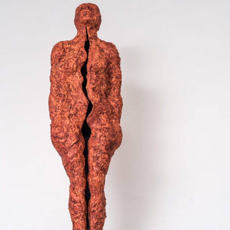 Anna Gillespie, The Light Gets In #2, Plaster, mixed media, resin 124 x 26 x 24cm
