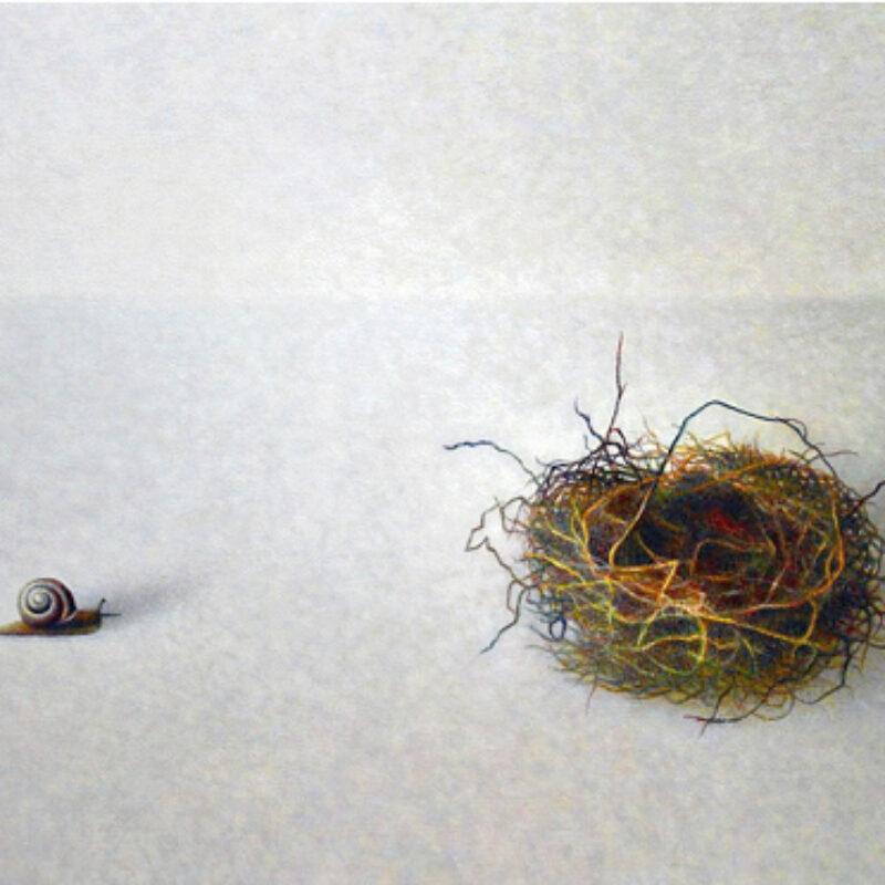 Atsuko Fujii Lost Property, Egg Tempera 30 x 50 cm