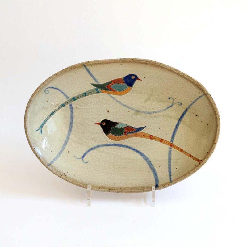 J14 Oval Sunbird Bowl, Stoneware31 x 22 x 6 cm. £190