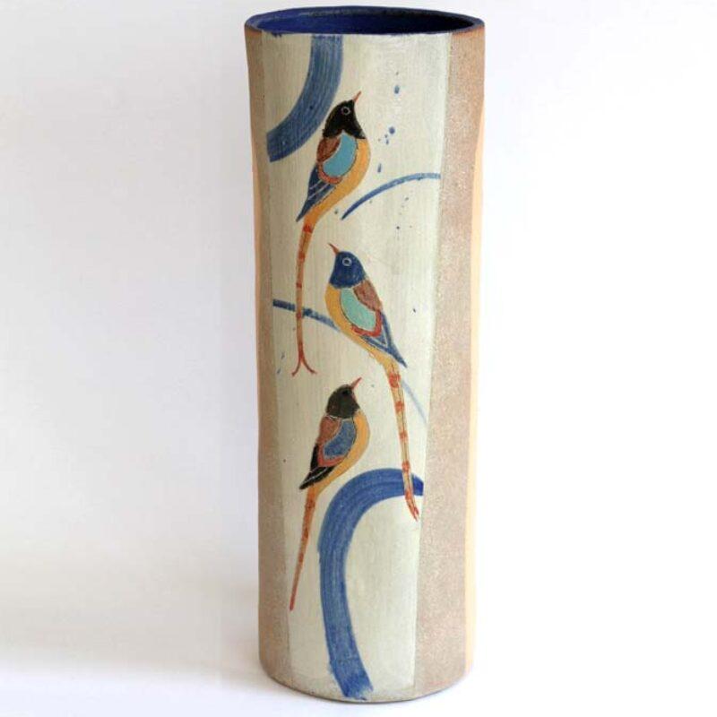 J2 Tall Bird Vase, Stoneware 42 x 15 cm. £580