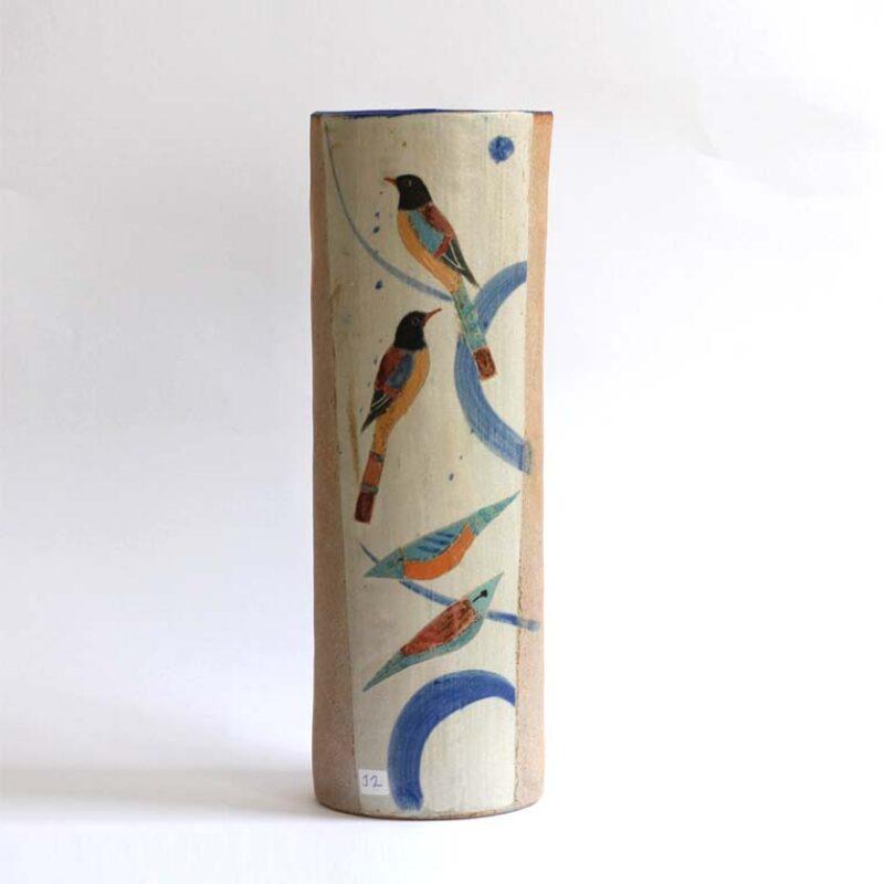 J2. Tall Bird Vase, Stoneware 42 x 15 cm. £580