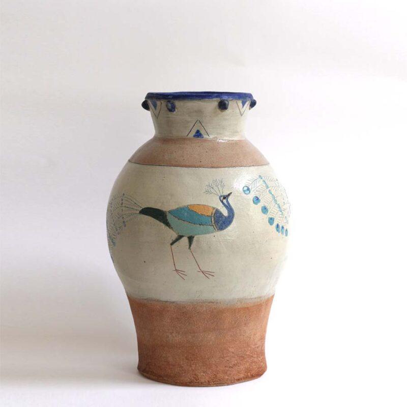 J1 Peacock Vase, Stoneware 39 x 24 cm. £660