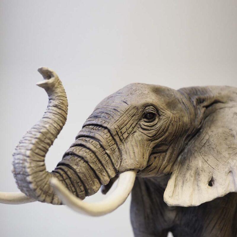 Elephant, Low Fired Ceramic 51 x 33 x 25 cm. £3,000