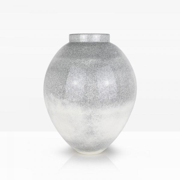 4. White Crackle Vessel, Porcelain with Oil Spot Glazes 43 x 34 cm. £600