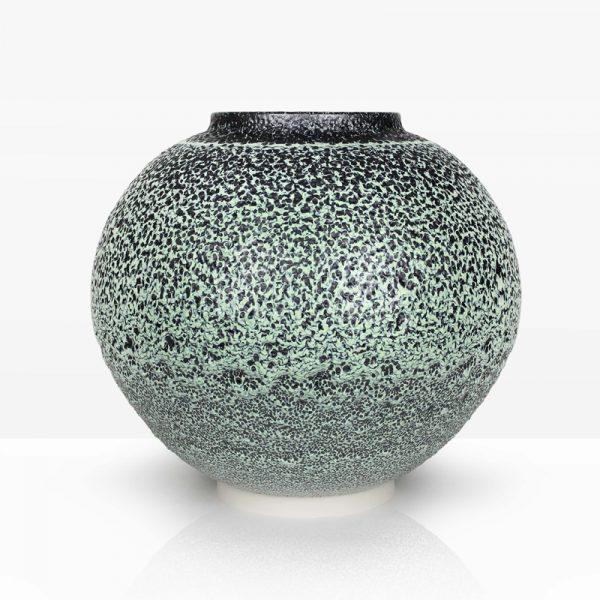 6. Green Moss Jar, Porcelain with Oil Spot Glazes 50 x 54 cm. £1,500