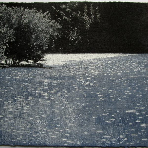 Abbots Pool Bright Light, Acrylic and Pastel on Board 26 x 30.5 cm. £500