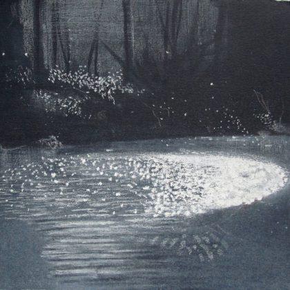 Abbots Pool February Light, Pastel on Paper 19 x 27 cm. £500