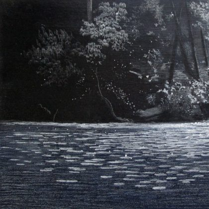 Abbots Pool Summer Light, Pastel and Acrylic on Board 20 x 30 cm. £500
