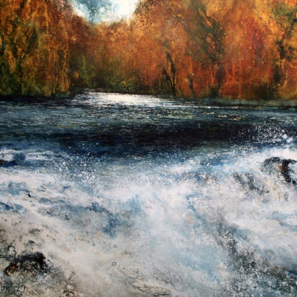 The River Wild, Acrylic on Paper 92 x 101 cm.