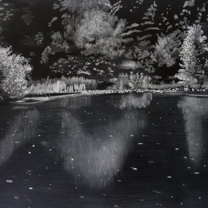 Light and Reflections 4, Pastel on Paper 76 x 97 cm. £1,800