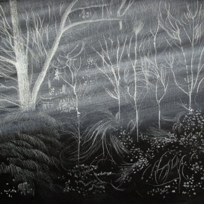 Light in the Trees, Pastel on Paper 30.5 x 26 cm. £500