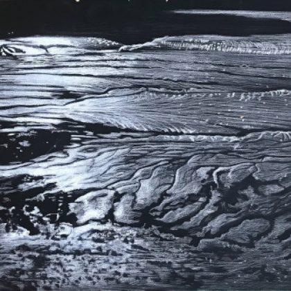 Low Tide Poets Walk II, Pastel on Paper 82 x 132 cm. £2,800