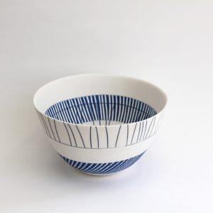 S13. Blue Line Bowl, Parian Clay 13 x 22 cm. £480