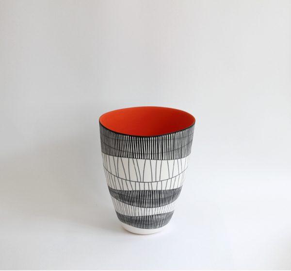 S42. Deep Orange Bowl 26 x 20 cm. £900