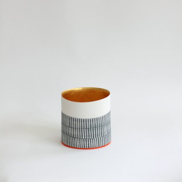 S50. Oval vessel with 23ct gold interior 13 x 12 cm. Sold