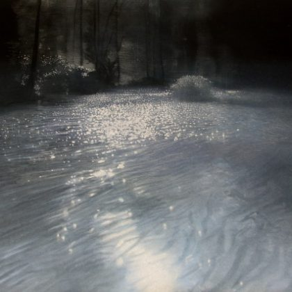 Water, Pastel on Paper 97 x 128 cm. Sold