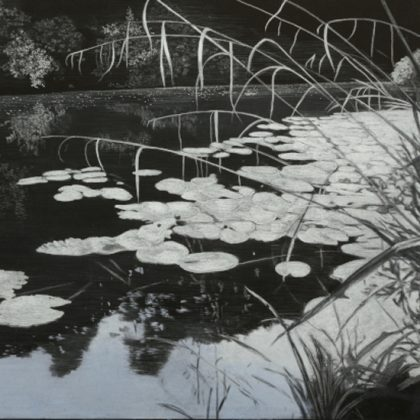 Water's Edge 3, Pastel on Paper on Board 98 x 130 cm. £2,600