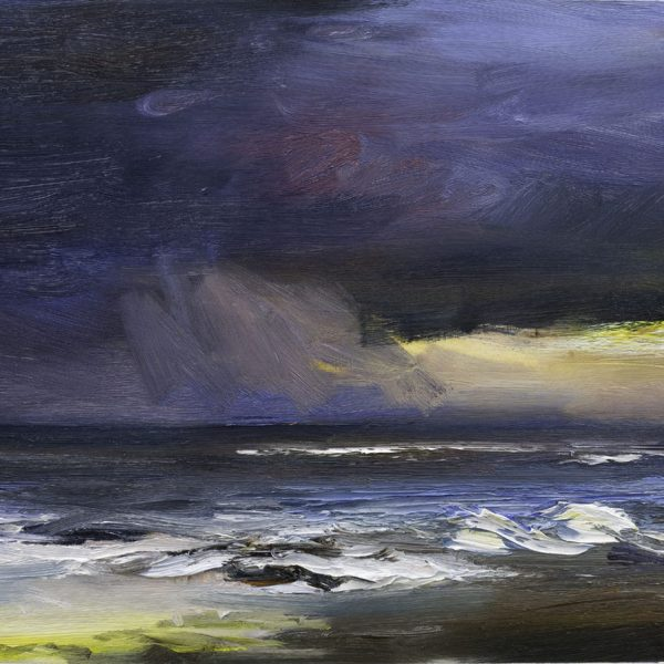 Night Sea I, Oil on Paper 45 x 51 cm
