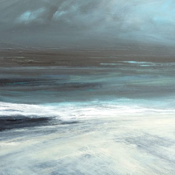 Ebb Tide, Quendale Beach, Mixed Media on Board 38 x 38 cm. £820
