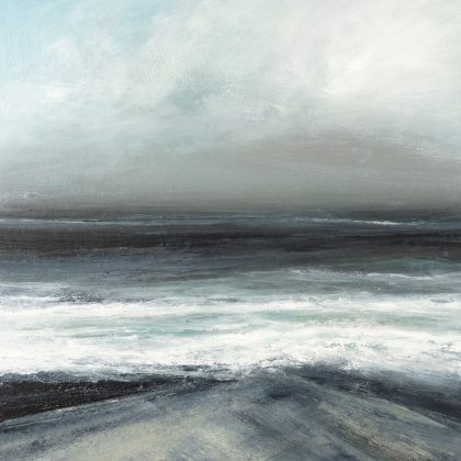 May Westerly Gale, Cumlewick, Mixed Media on Board 33 x 33 cm. £750