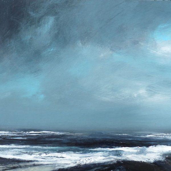 Summer Gale, Shetland, Mixed Media on Board 31 x 48 cm. Sold