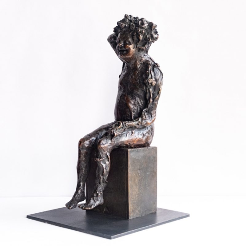 Seated Bacchus with Vines, Bronze Ed. of 10 38 x 16 x 19 cm. £4,140