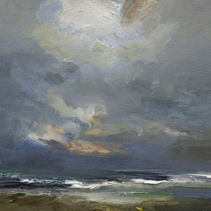 The Sea and Sky in Autumn, Oil on Board 61 x 66 cm.